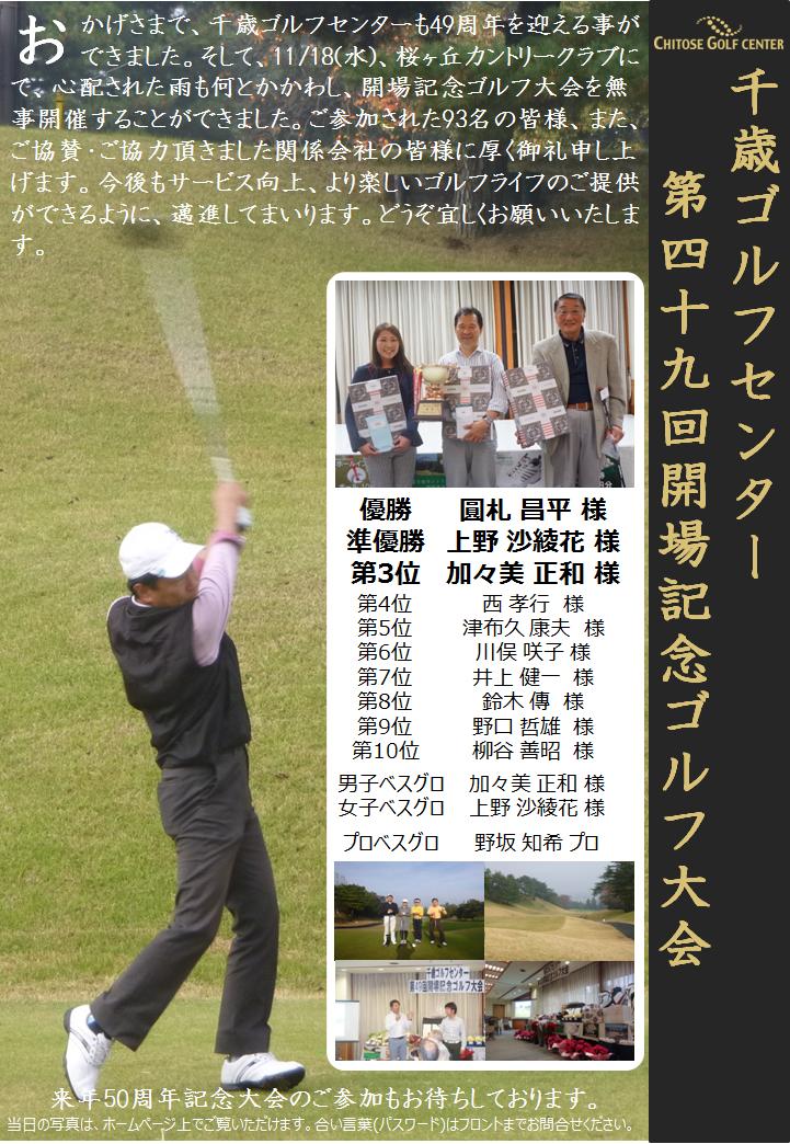 20151118開場記念ゴルフ大会報告